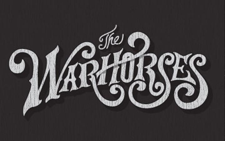 hand lettering warhorses script typography