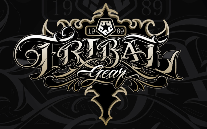 tribal gear 25 xxv strong lettering typography