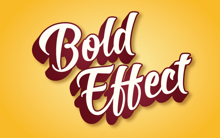 bold text effect typography shadow design