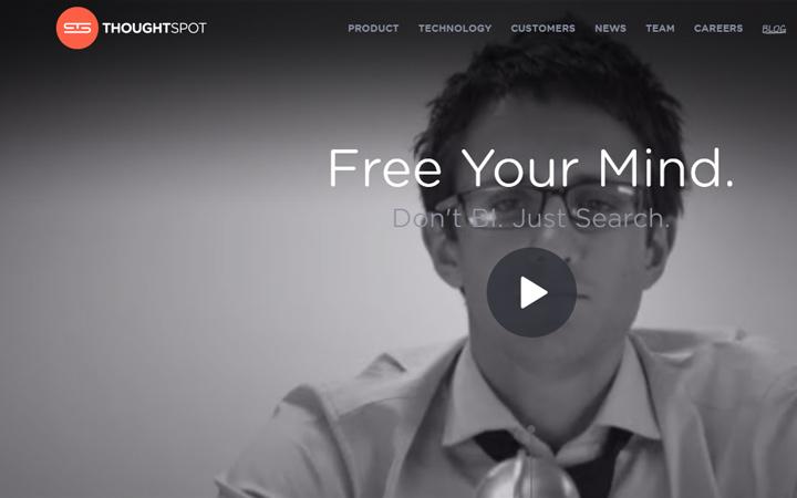 thought spot fullscreen video background design