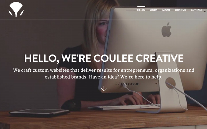 coulee creative agency dark video background