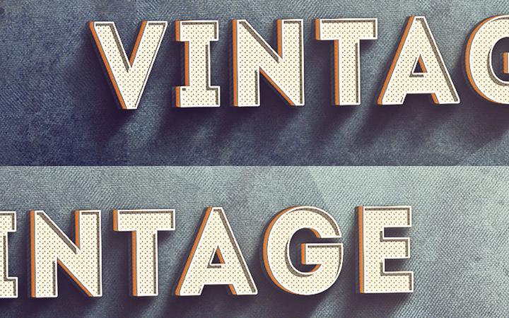 vintage texture steel grunge text effect