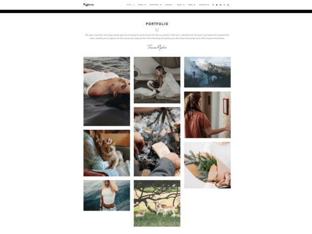 katana wordpress grid theme