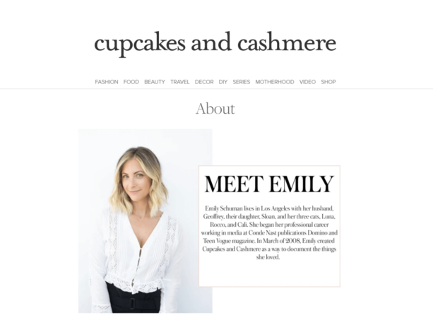 creative about me pages