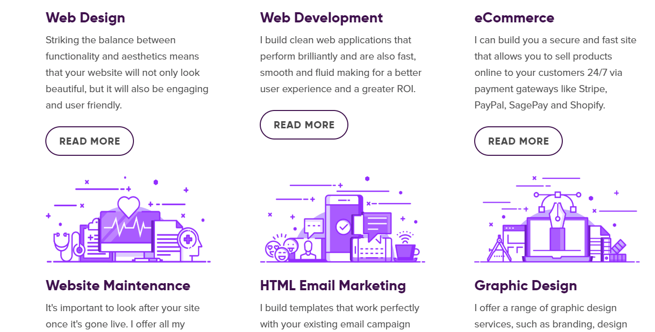 Example of value add-on services by design firm The Lonely Pixel