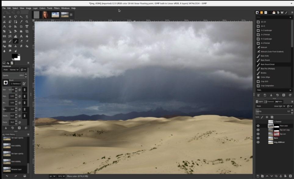 GIMP photo editing software