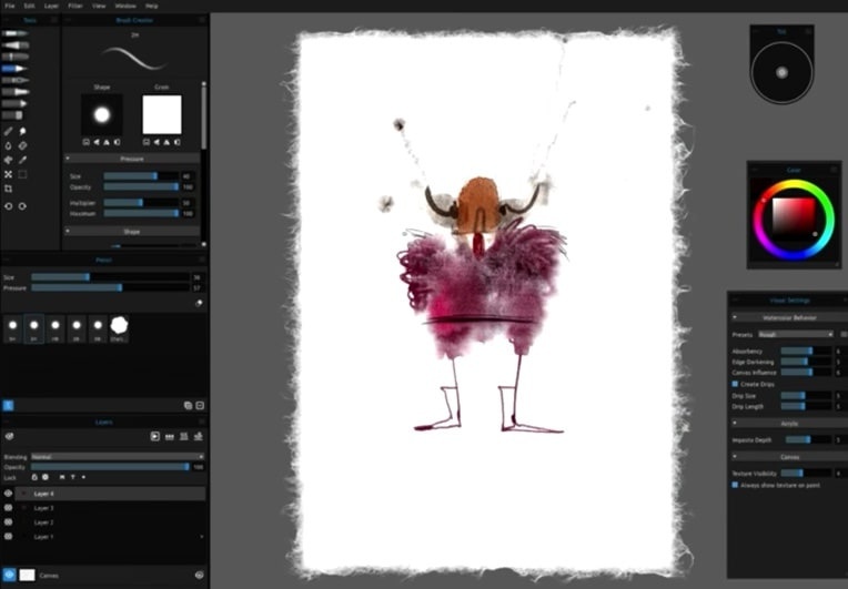 Rebelle photo editing software