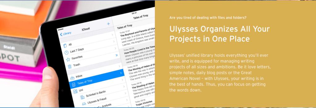 writing app Ulysses
