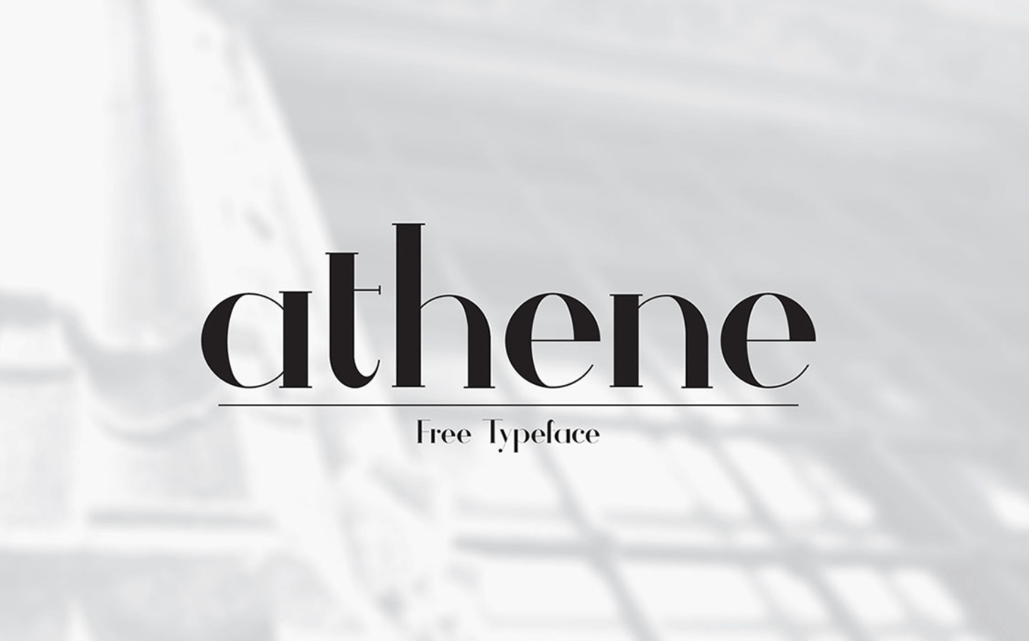 Free commercial typeface. This font is Athene