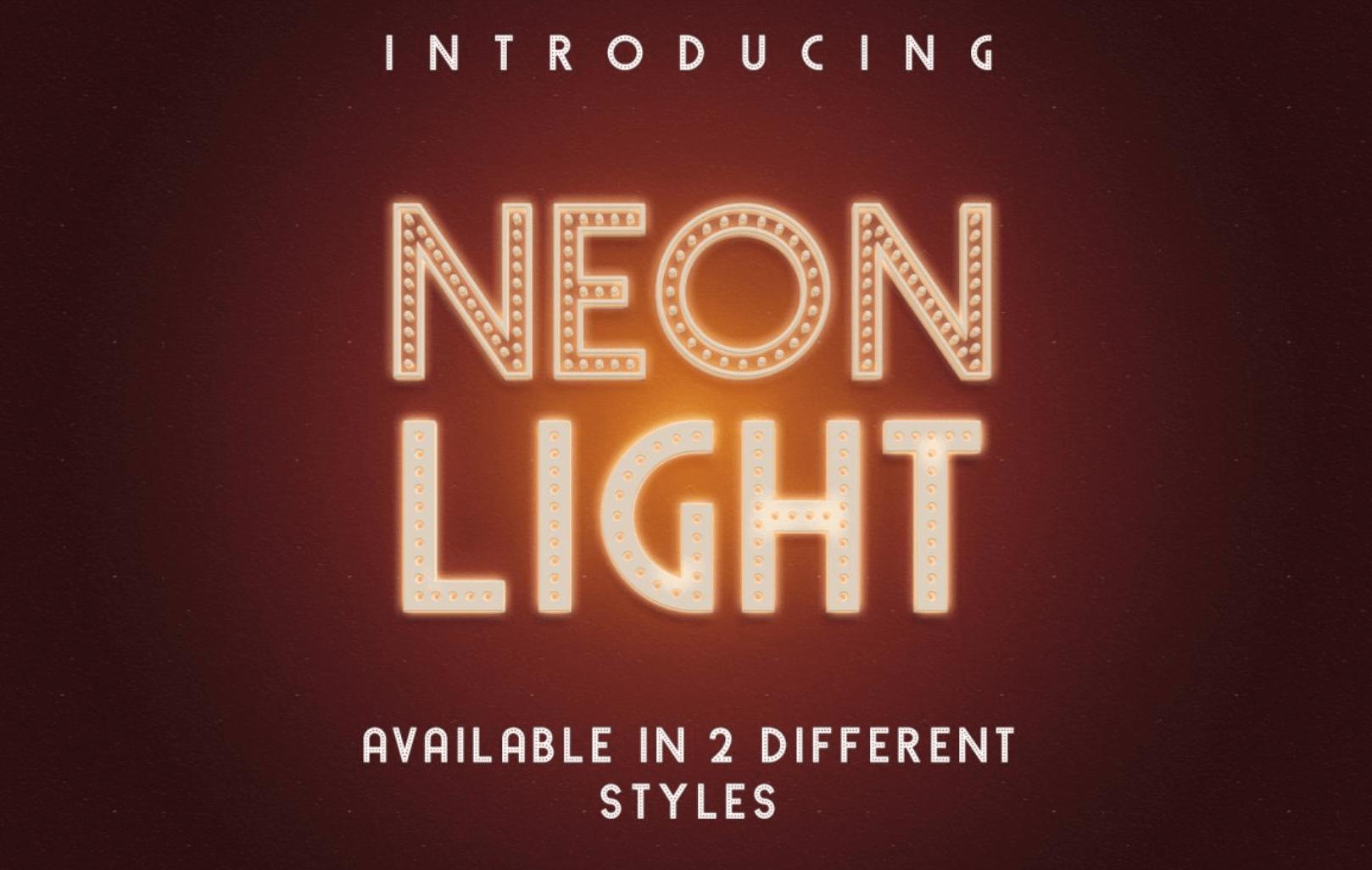Neone Light free font