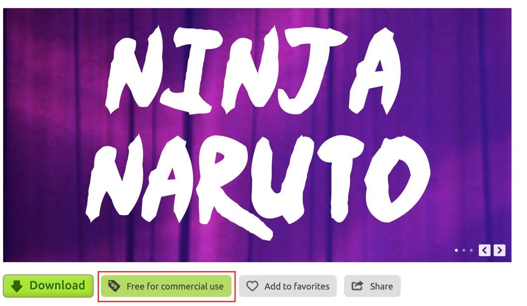 Ninja Naruuto display font
