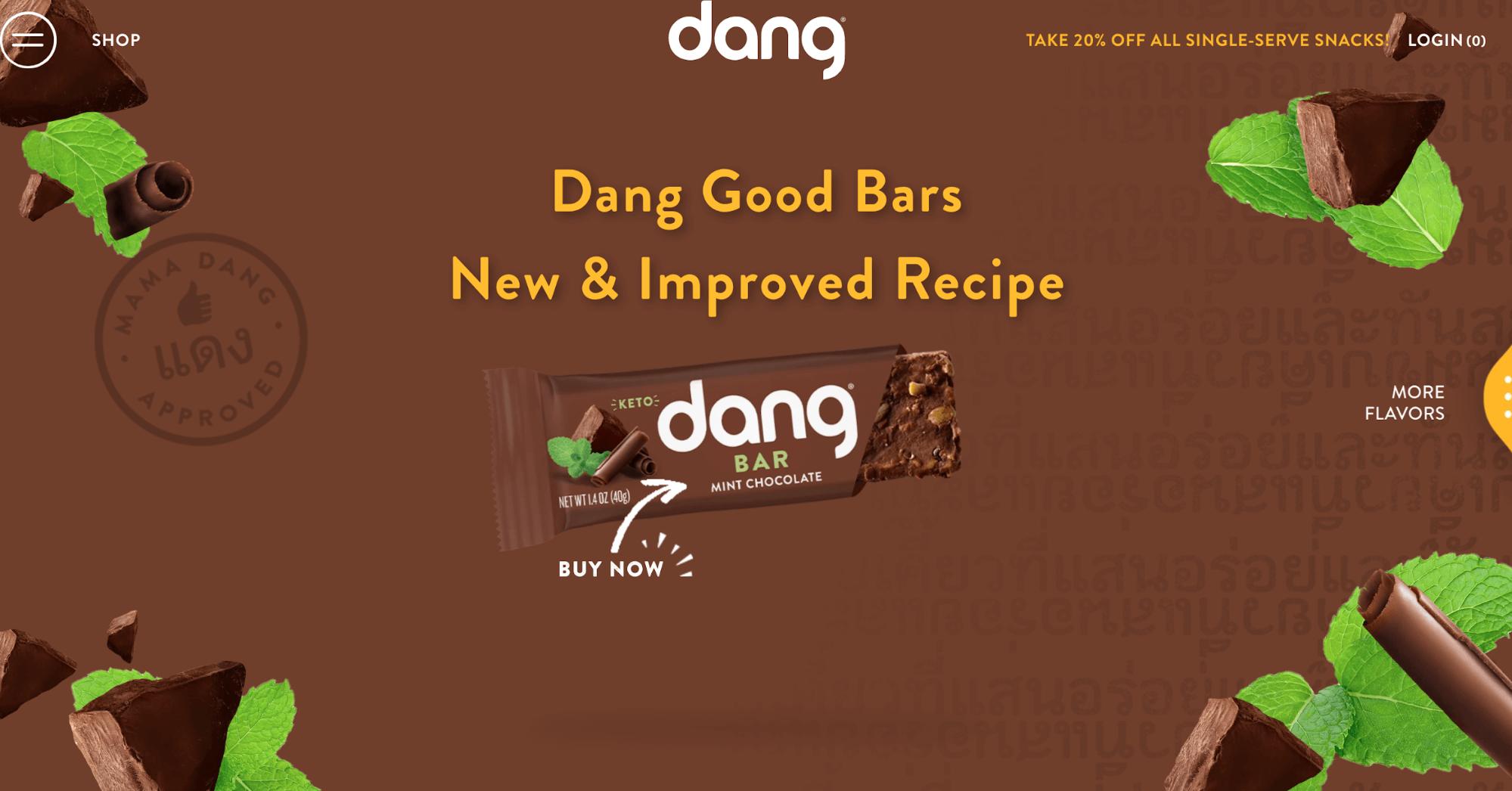 ecommerce website design for snack bar