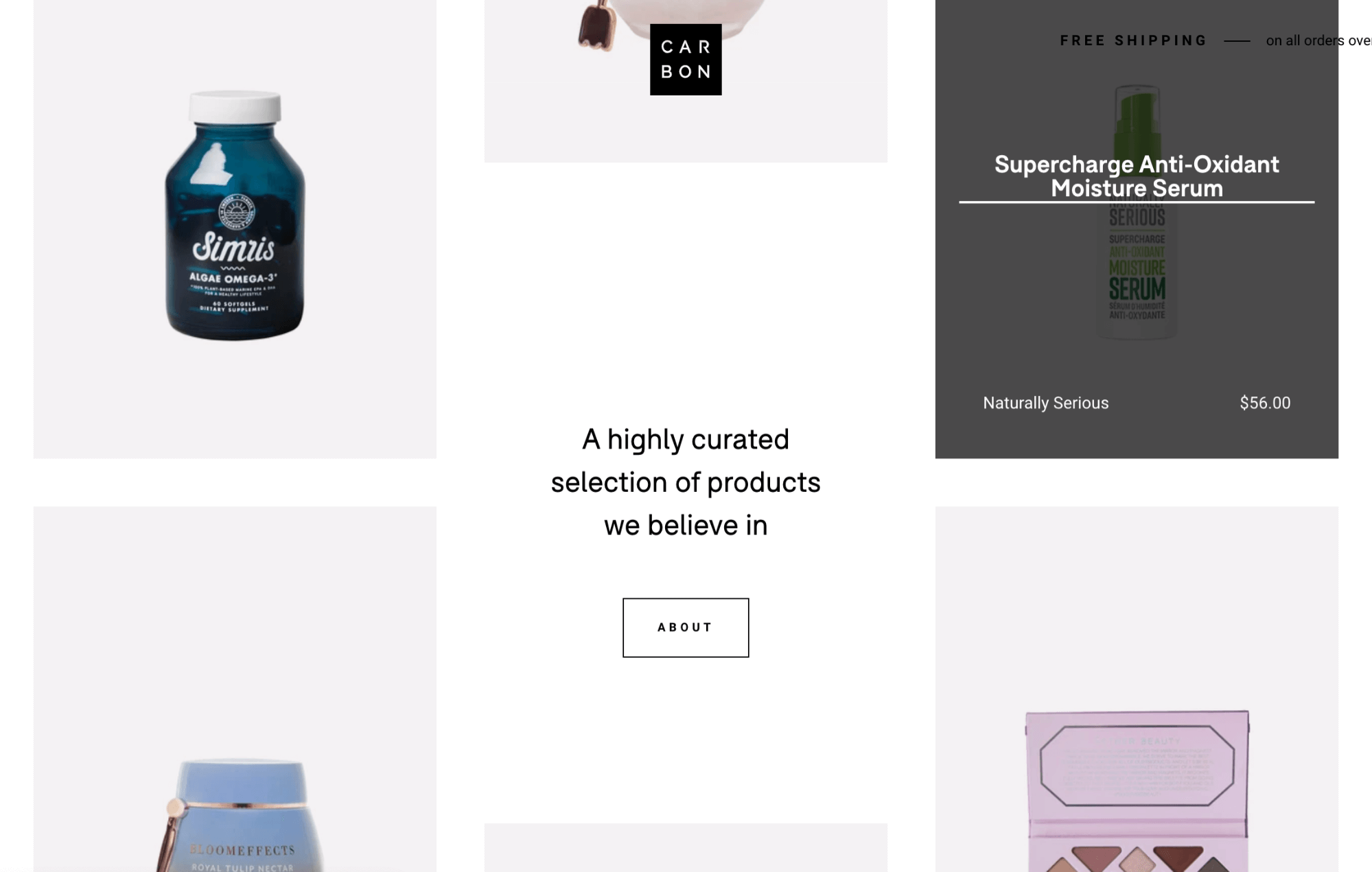 whitespace grid for product photos