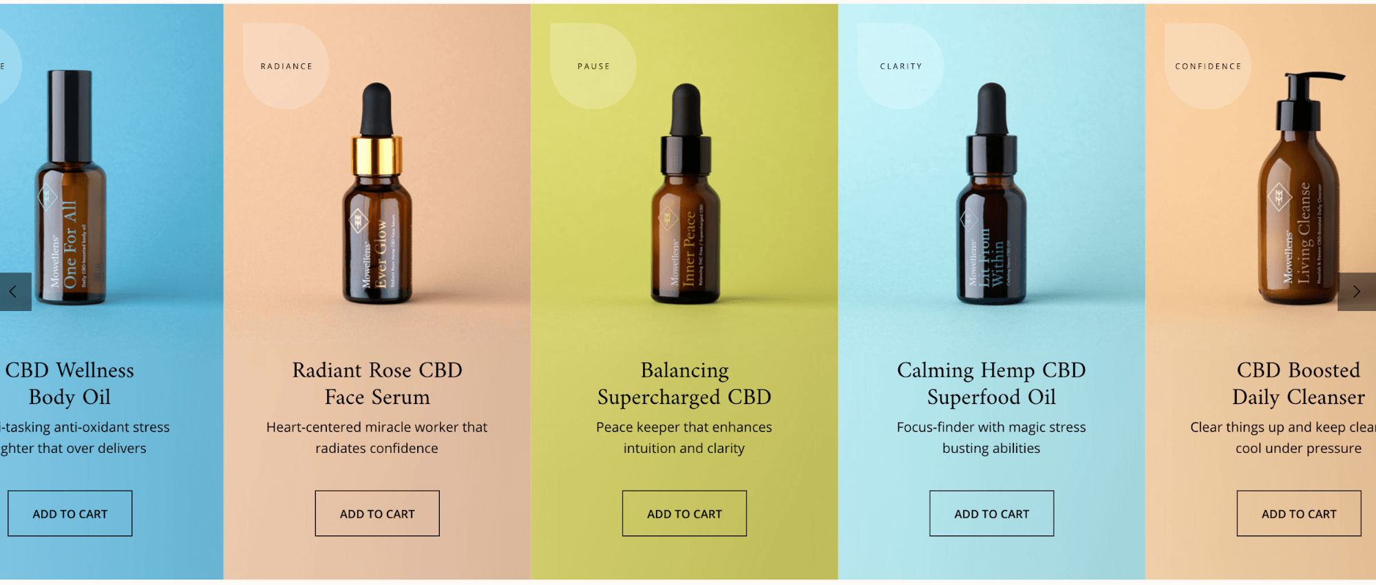 product images in a grid design for ecommerce store
