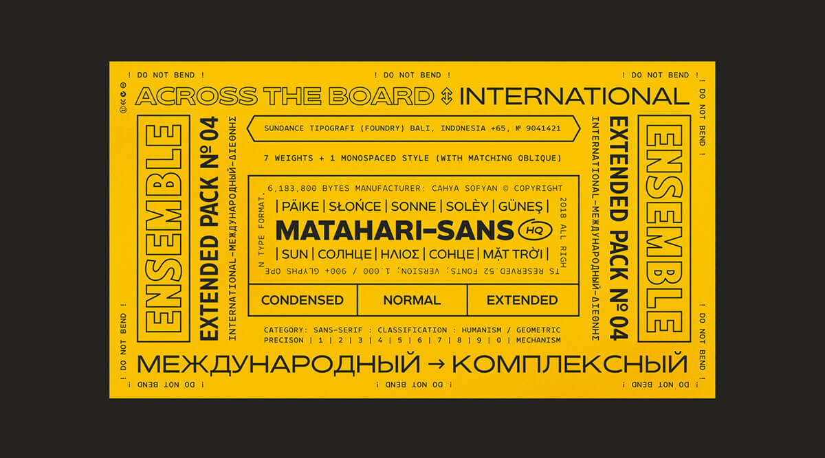 font family for PowerPoint projects