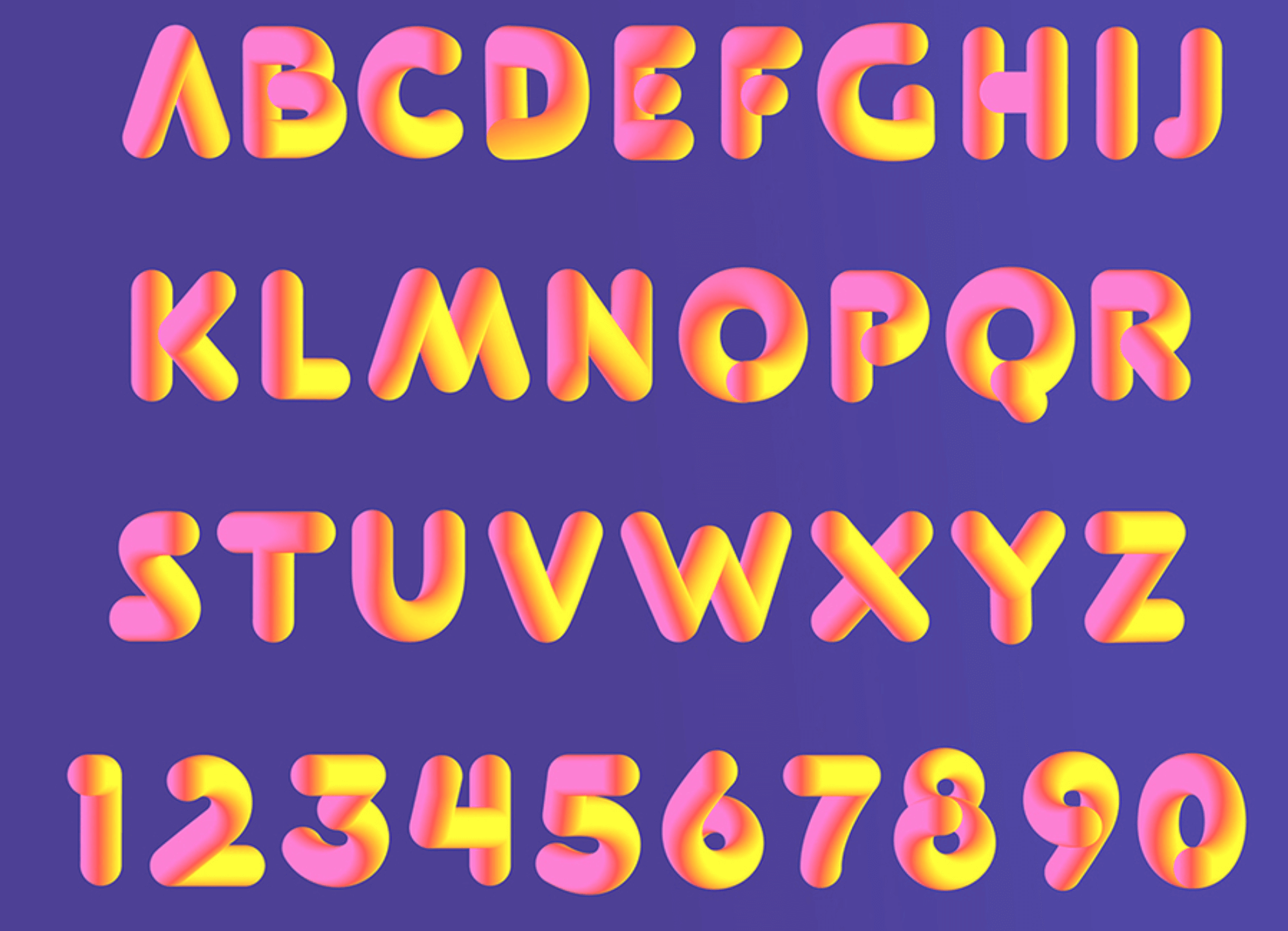 3d font dyslexia font