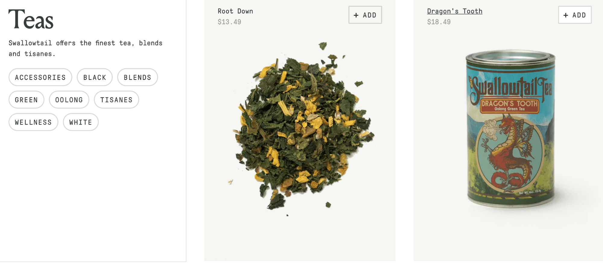 product images on ecommerce store