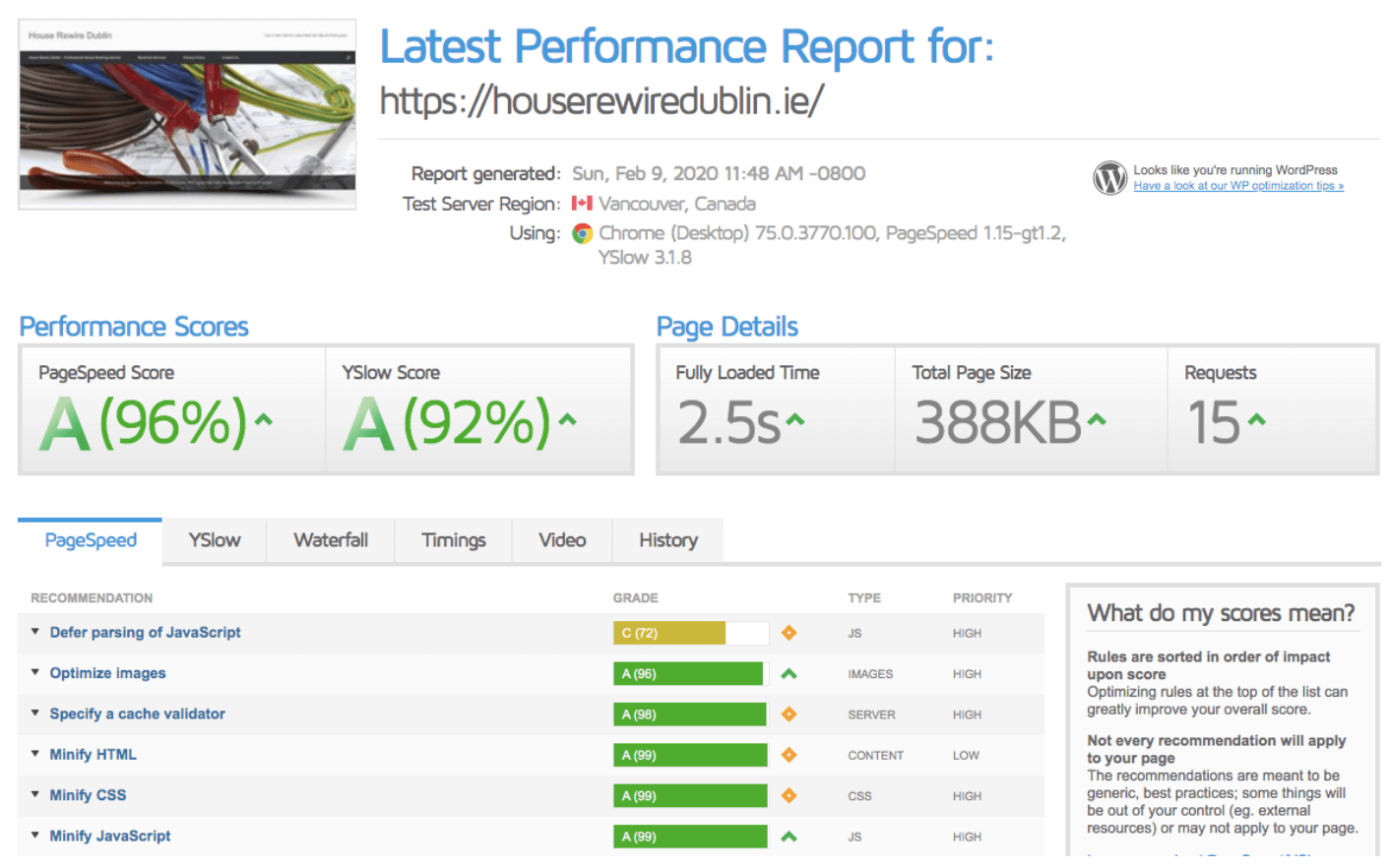 page speed case study